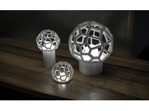 Generative design. Voronoi spherical lamp for table.