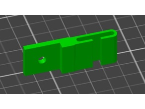 Prusa LCD cable clip for table top