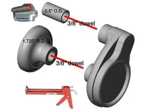 Twin-Tube epoxy/adhesive/fill adapter for standard caulk gun
