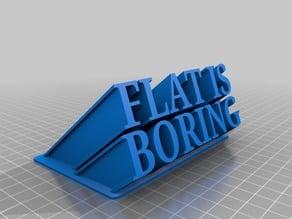 Flat ir boring 3D figure text