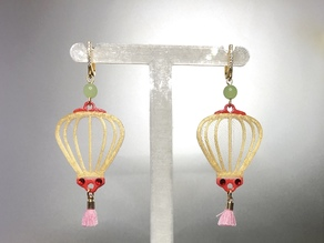 chinese lantern earrings - dual