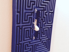 Overlook maze from The Shining as a switch plate.