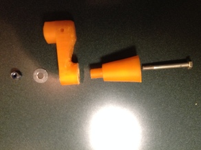 Small crank handle and knob for Black and Decker workmate