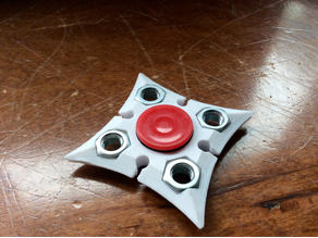 fidget ninja star spinner (with nuts)