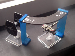 Template bridge for ship movement (X-Wing Fantasy Flight unofficial)