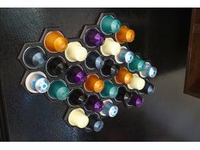 Parametric Nespresso Capsule Honeycomb Rack