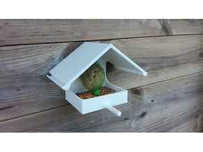 Bird fat ball house feeder