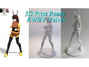 3D PRINT READY!! Velvet from RWBY