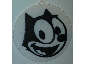 Felix the Cat Magnet & Ornament - Face Only / IEC3D