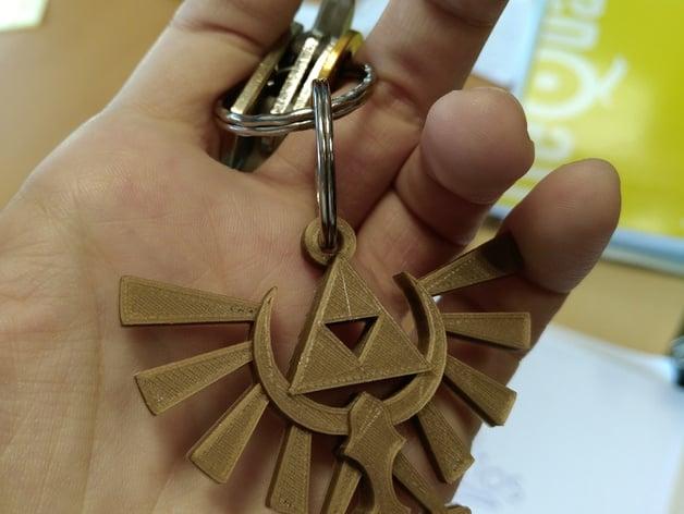The Legend of Zelda: Hyrule Crest Keychain