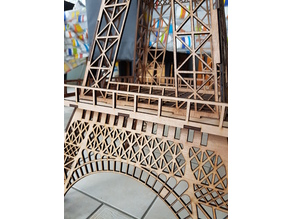 Big Lasercutted Eiffel Tower