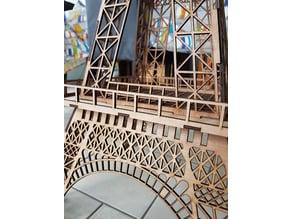 Big Lasercutted Eiffel Tower