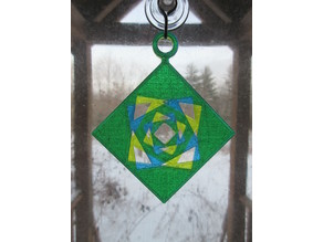 Pythagorean Rose Hanging Ornament