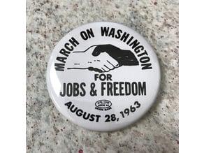 MLK March on Washington Button & Lesson Plan