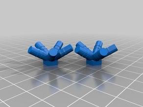 Connecteurs pour le montage d'un icosaèdre ( solide de Platon ) avec des pailles