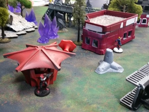 28mm Infinity miniatures game robot food stand
