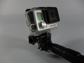 GoPro selfie-pole adapter for hiking pole