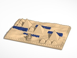3d map of the pyramids of giza