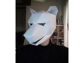 Low poli wolf paper mask