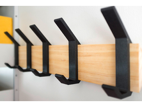 Coat Rack Hooks for French Cleat
