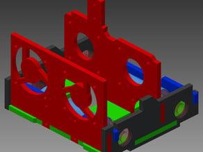 Leapfrog Creatr (Mod) for E3D Titan - Dual Carriage (Horizontal 60mm LM8UU Carriage)