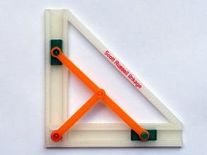 Scott Russell linkage. Turn linear motion through 90 degrees.