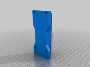 Lulzbot TAZ bearing / bushing holders with tightening clamps