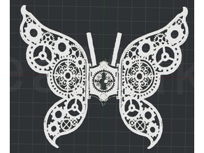 Steampunk Butterfly 2D Wall Art
