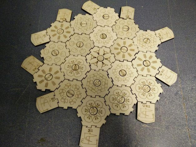 Settlers Of Wooden Catan Multilanguage By Redplanet Thingiverse