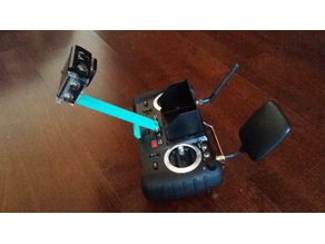 GoPro-like camera mount for Hubsan H906A transmitter