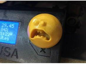 Prusa i3 - Selector Knob - Rick and Morty - Screaming Sun V2