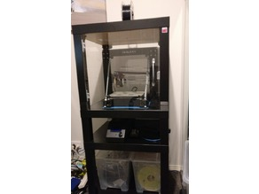 3D Printer Enclosure - Ikea Lack Legs Remix with Perspex Guides