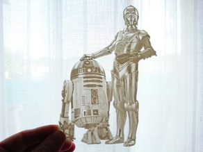 Lithophane R2D2 AND C3PO