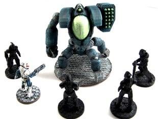 House Vermeni Highblood Command Pod, 28mm Miniature