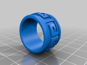 OpenSCAD pattern ring generator - Generador de anillos de patrón