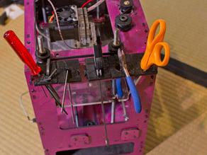 modular tool-holder rack for MakerBot Cupcake