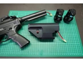 Airsoft M4 AEG - B&D Power Tool Battery Stock
