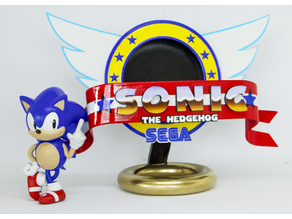Sonic the Hedgehog Logo Stand