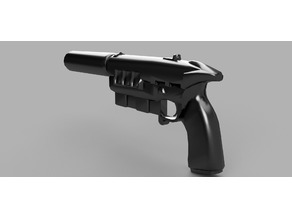 Fallout New Vegas 12.7mm Pistol with suppressor