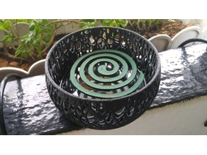 Voronoi Mosquito Coil Holder