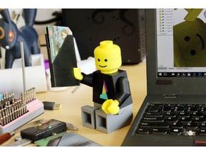 Multi-Color Mosaic Lego Minifig