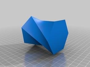 hexagon twist vase