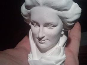 Maurice Xhrouet's woman head statue