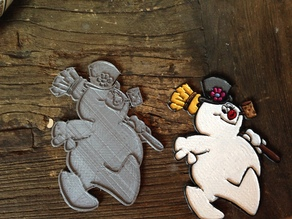 Frosty the Snowman - Relief Ornament