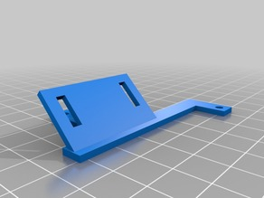 Very simple turbine fan support for Prusa i3 Extruder