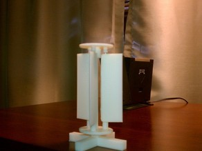 vertical windmill - adjustable fin angles