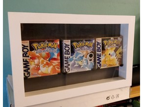 Gameboy box holder for display case