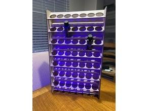 Laser Cut Wall Mounted Acrylic Paint Bottle Holder