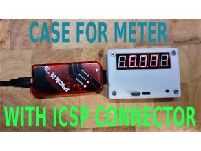 Case for frequency meter with programming connector.