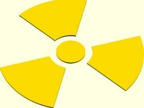 Radioactive Trefoil (OpenSCAD)